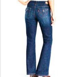 Levi's 526 High Rise Slender Boot Cut Jeans